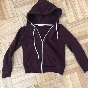 Final moving sale! F21 maroon zip up hoodie